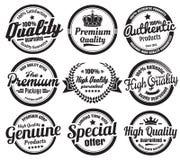 9 винтажных значков Ecommerce иллюстрация штока