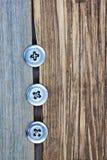 3 винтажных кнопки Стоковая Фотография