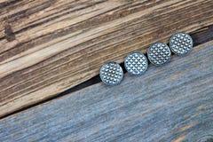 4 винтажных кнопки Стоковые Изображения