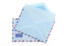 2 винтажных конверта воздушной почты Стоковая Фотография