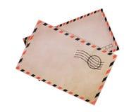 2 винтажных конверта воздушной почты Стоковые Фотографии RF