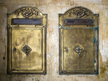 2 винтажных коробки столба Стоковая Фотография