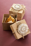 2 винтажных коробки с печеньями Стоковые Фото