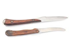2 винтажных ножа кухни Стоковая Фотография RF