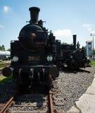 2 винтажных локомотива пара Стоковая Фотография RF