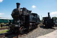 2 винтажных локомотива пара Стоковое фото RF