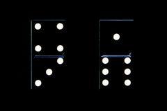 2 винтажных домино при равное значение представляя статус-кво Стоковые Изображения RF