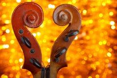 2 винтажных переченя скрипки Стоковые Фото