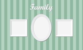3 винтажных рамки семейного фото Стоковое Фото