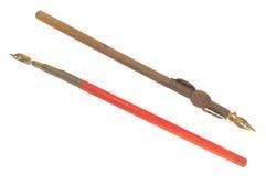 2 винтажных ручки пера Стоковое Изображение RF