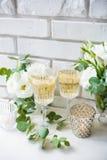 2 винтажных стекла шампанского Стоковое Фото
