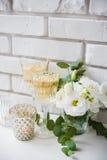 2 винтажных стекла шампанского Стоковые Изображения