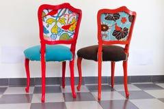 2 винтажных стуль Стоковое фото RF
