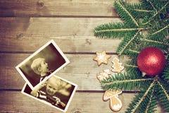 2 винтажных фото с положительными эмоциями 2 мальчиков Стоковая Фотография