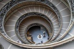 Винтовая лестница двойника Bramante Стоковые Изображения