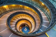 Винтовая лестница в Ватикане Стоковые Изображения RF