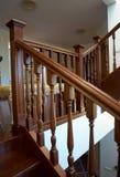 винтовая лестница деревянная Стоковые Фотографии RF
