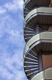 винтовая лестница пожара избежания Стоковые Изображения