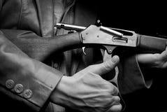 винтовка человека стоковое изображение rf