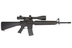 Винтовка M16 с телескопичным визированием Стоковая Фотография