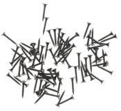 Винты для конструкции на белой предпосылке стоковое изображение