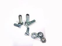 Винты или гайки металла - и - болты Стоковое Изображение RF