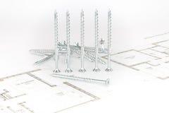 Винты и arhitectural эскиз Стоковые Изображения RF