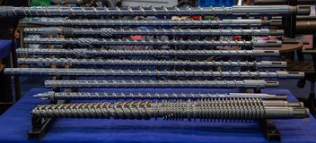 Винт инжекционного метода литья стоковая фотография