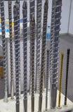 Винт инжекционного метода литья стоковое фото