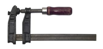 винт струбцины закрытый старый стоковое изображение