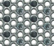 Винт с внутренним шестигранником в головке и предпосылка головок винта безшовная Стоковое Изображение