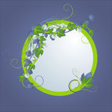 виньетка картины круглая vegetable Иллюстрация вектора