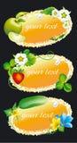 виньетка овоща плодоовощ ягоды Стоковое Изображение