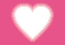 Виньетка сердца пинка дня Valentin Стоковое Изображение