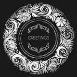 виньетка цветка круглая Стоковые Фото