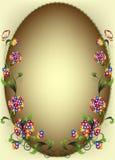 виньетка цветка Стоковое фото RF