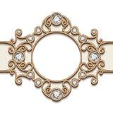 Виньетка ювелирных изделий золота Стоковые Изображения RF