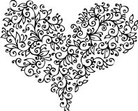 виньетка XVIII сердца романтичная Стоковое фото RF