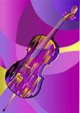 Виолончель на абстрактной предпосылке Стоковые Фотографии RF