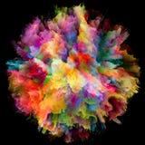 Виртуализация красочного взрыва выплеска краски стоковые фото