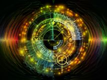 Виртуализация мистического круга Стоковые Фото