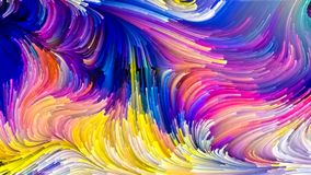 Виртуальная жизнь жидкостного цвета иллюстрация штока