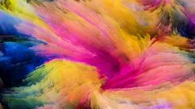 Виртуальная красочная краска стоковые фотографии rf