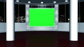 Виртуальная предпосылка 6 студии - зеленый экран иллюстрация штока