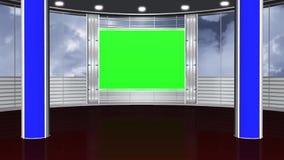 Виртуальная предпосылка 4 студии - зеленый экран иллюстрация вектора