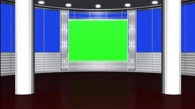 Виртуальная предпосылка 5 студии - зеленый экран иллюстрация штока