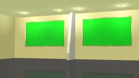 Виртуальная предпосылка студии студии с 2 зелеными экранами бесплатная иллюстрация