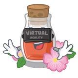 Виртуальная реальность подняла масло семени форма мультфильма иллюстрация штока