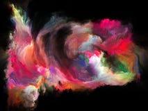 Виртуальное движение цвета иллюстрация вектора