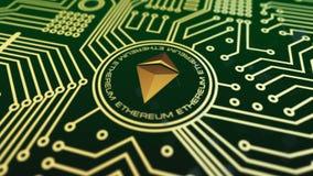 Виртуальное cryptocurrency Ethereum акции видеоматериалы